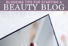 Beauty Blog Blogging Tips
